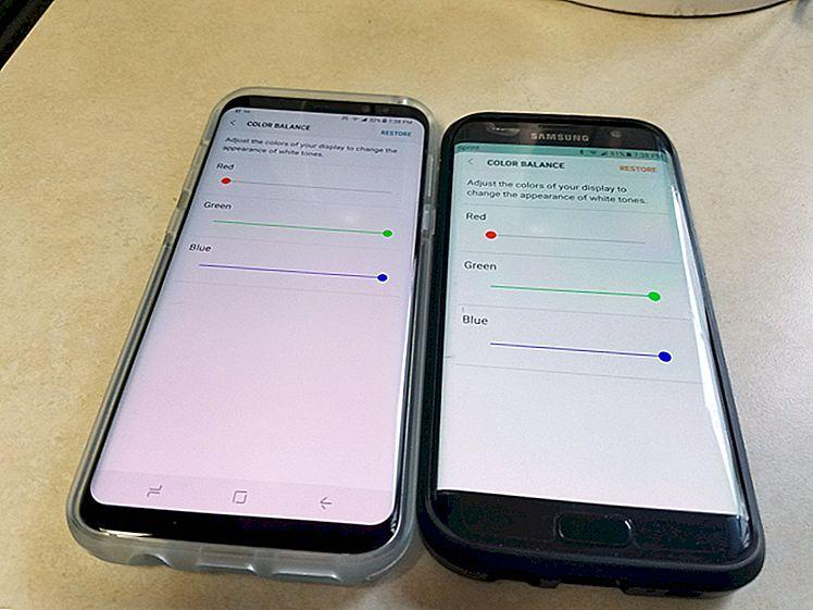 Hvordan fikse den rødlige skjermen på Galaxy S8